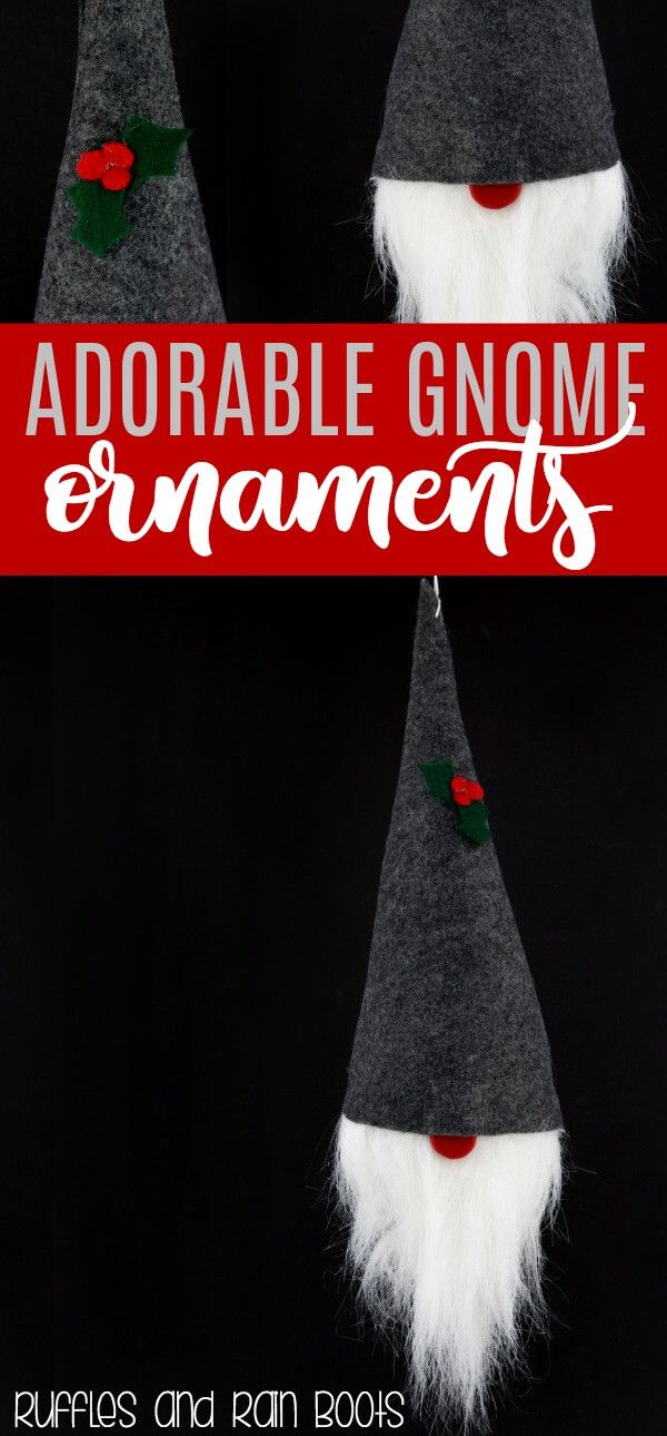 The Cutest And Easiest Diy Gnome Ornament Holiday Decor Diy Christmas Easy Christmas Ornaments Pinterest Christmas Crafts