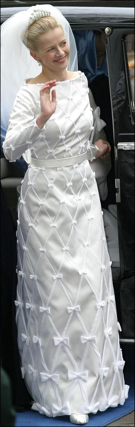 Princess Mabel in her wedding dress. She was widowed in 2013 when Prince Friso died following a ski accident. The Netherlands.