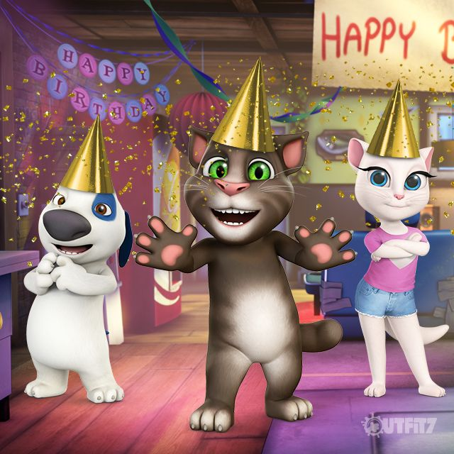 My dear, golden Talking Tom! I wish you all the gold and glitter in this world xo, Talking Angela #TalkingAngela #MyTalkingAngela #LittleKitties #TalkingTom #party #gold #theme #TomGoldRun #game #app #best #ever #cute #happy #run #running #birthday