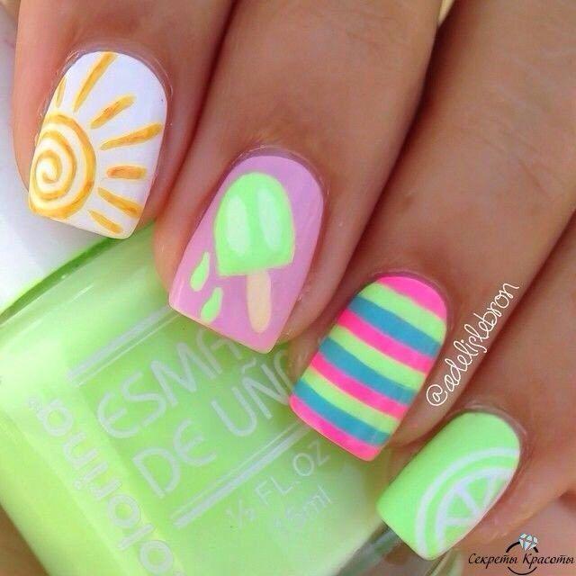Mejores 186 imágenes de Beautiful nails en Pinterest | Beautiful ...