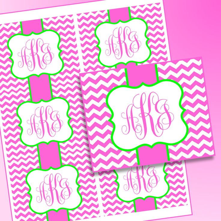 Digital Printable Monogram Sticker for Sorority Recruitment Packet by 4TheLoveOfFonts1 on Etsy https://www.etsy.com/listing/246504067/digital-printable-monogram-sticker-for