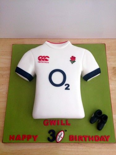 England rugby shirt cake - For all your cake decorating supplies, please visit craftcompany.co.uk