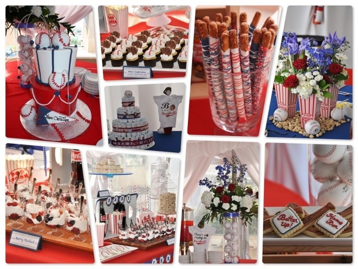 Baseball Theme Baby Shower. Dessert Table And Treats By Lilu0027 Sweet Me Bake  Shop