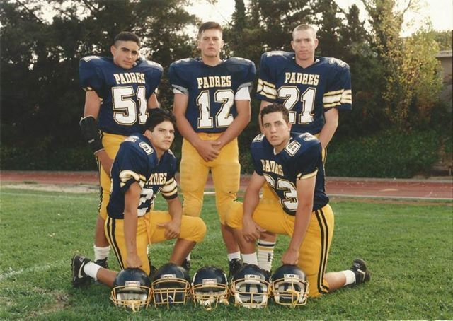 Pin for Later: Tom Brady's Epic Celtics Throwback and 11 Other Times He Won Social Media When He Shared His High School Team Tom teased himself and his high school crew for their lack of smiles.