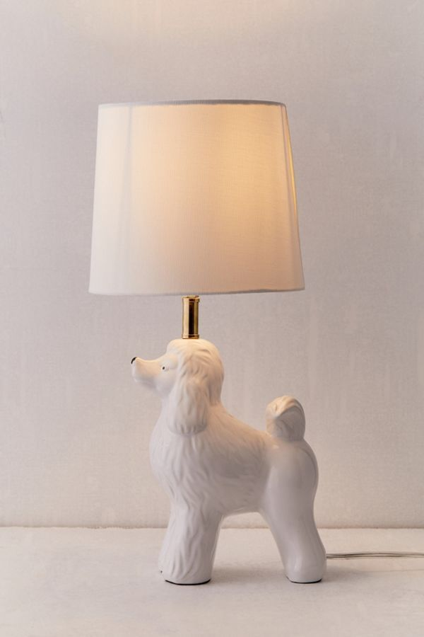 Poodle Table Lamp In 2020 Animal Lamp Dog Lamp Table Lamp