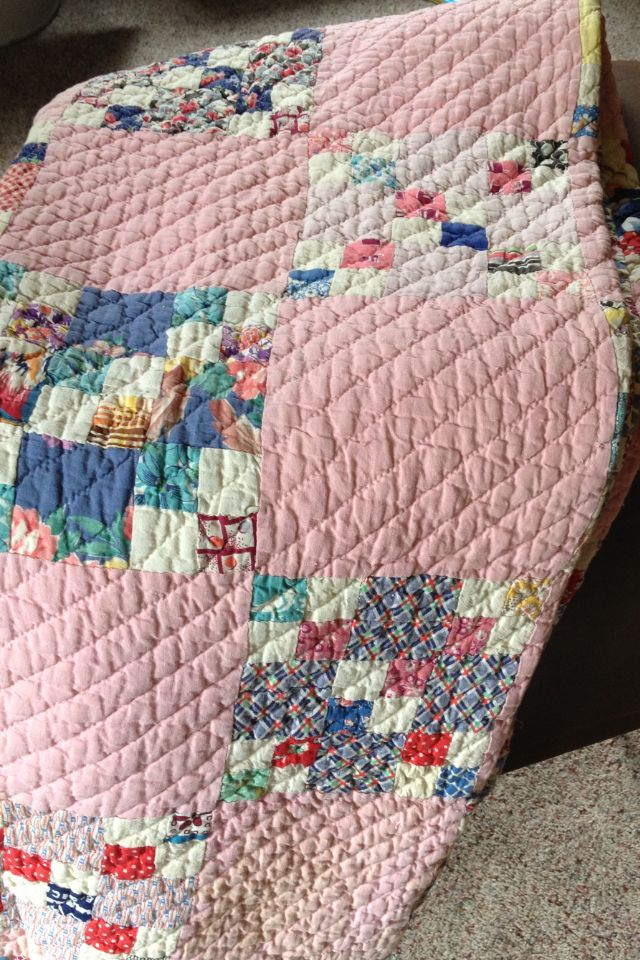 Antique quilt. I like the quilting