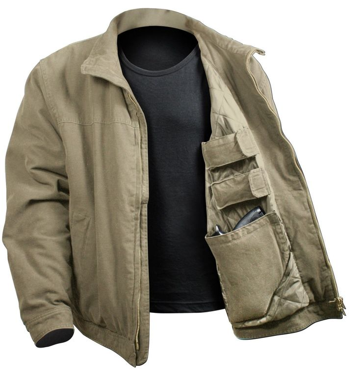 Men's 3-Season Concealed Carry Casual Tactical Jacket Coat - Rothco 5385