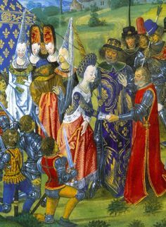 The Marriage of Catherine of Valois and Henry V of England in 1420.  This blog has *loads* of amazing medieval and renaissance portraits -- well worth the look!