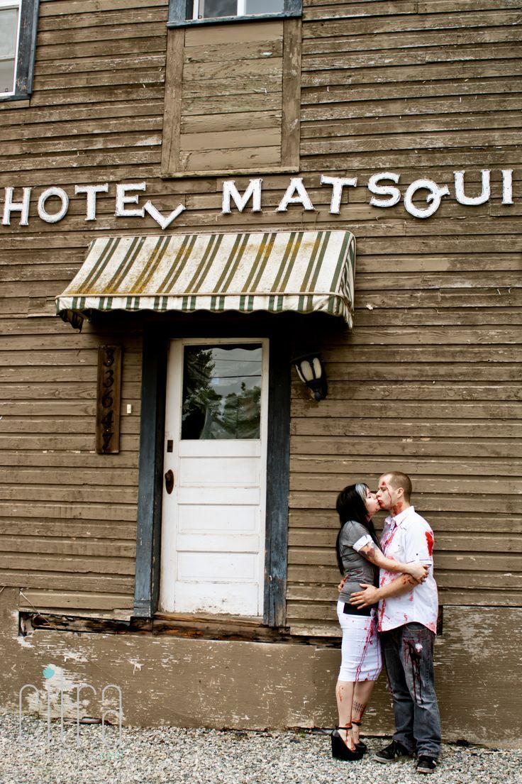 Haunted Engagement Photos