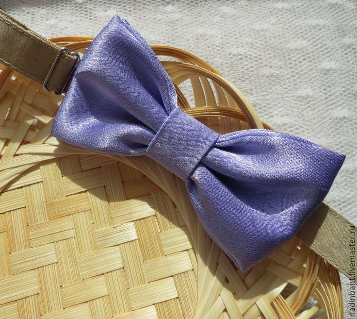 """Купить Галстук бабочка """"Нежная Сирень"""" - сиреневый, однотонный, галстук бабочка, галстук-бабочка, бабочка"""