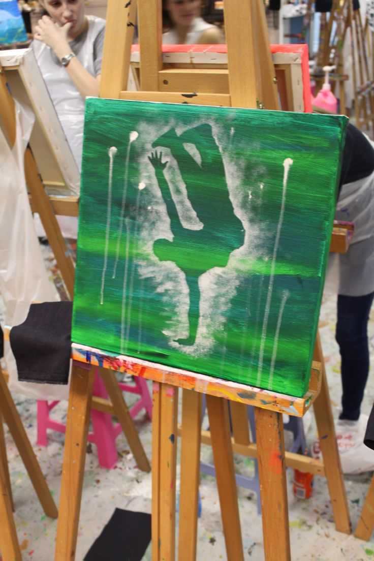 A bit of a drip effect to add something extra to the painting. — at Art Jamming, V&A Waterfront. #beautysouthafrica #aussieexpression