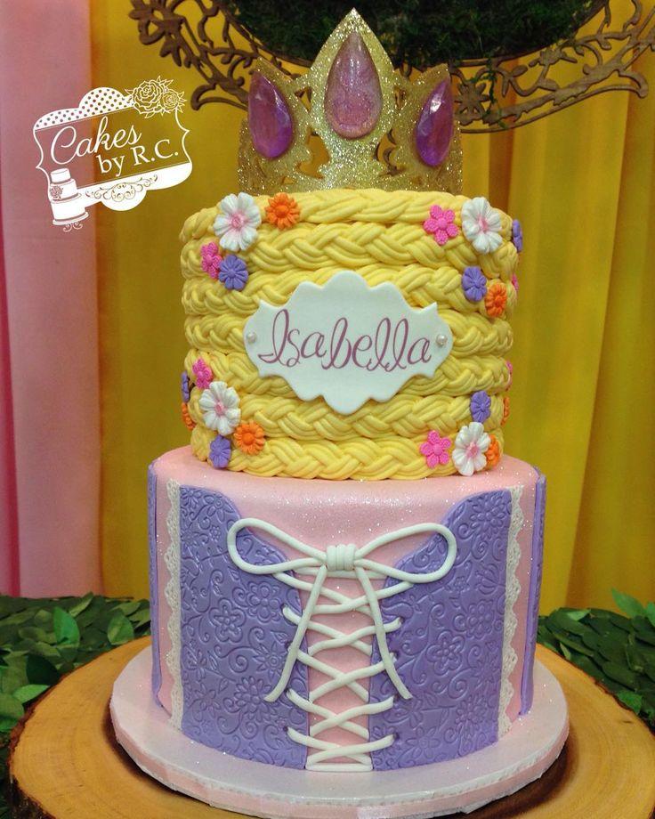 Tangled/Rapunzel cake