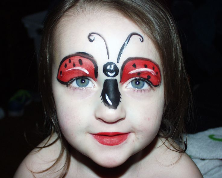 Ladybug Costume With Face Painted
