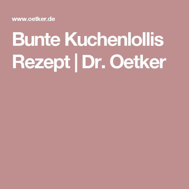 Bunte Kuchenlollis Rezept | Dr. Oetker