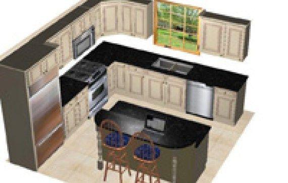 12 X 14 Kitchen Design With Island 8 Layout Ranch