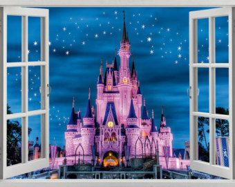 Floating Disney Fairy Castle Wall Sticker Vinyl Decal Wall Art