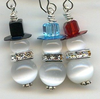 Snow Buddies Sterling Silver Earrings by jeridiehard on Etsy