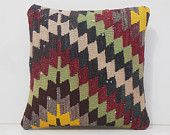 needlepoint pillow red pillow slip cover shabby chic pillow turkish pillow cover ethnic cushion cover ethnic throw pillow 14553 kilim pillow