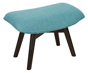 Kruk Twist, turquoise, B 63 cm