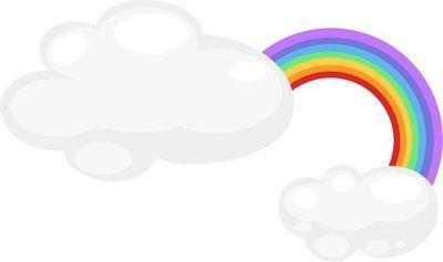 Muursticker Regenboog pictogram vector illustratie