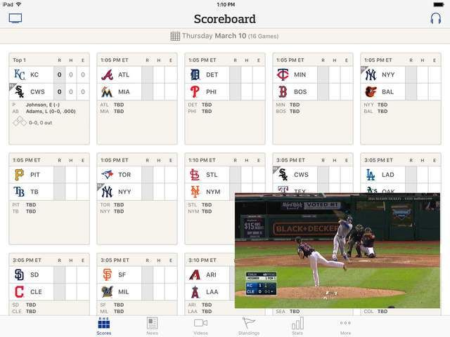 Live video viewing up 86% over last year in MLBs At Bat app thanks to addition of multitasking