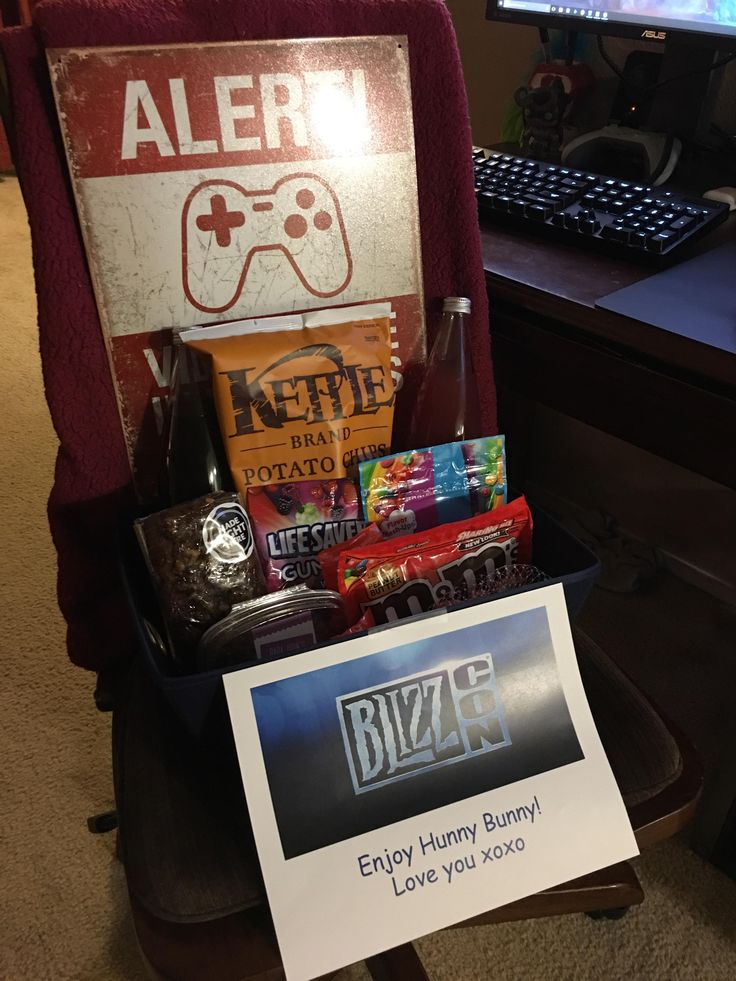 Woke up and found a BlizzCon care package on my computer chair. Wifey gets 10/10 for caring about our hobby! #worldofwarcraft #blizzard #Hearthstone #wow #Warcraft #BlizzardCS #gaming