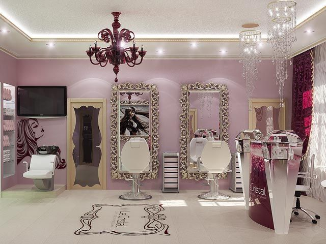 interior designs for beauty salons | interior, design, beauty salon, burgundy, ideas, ... | Salon Inspirat ...