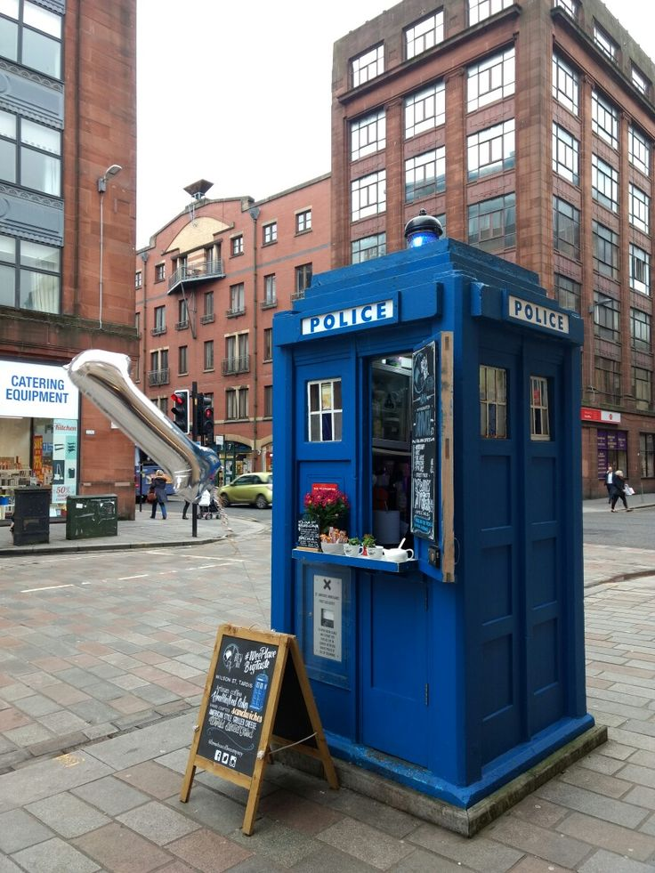 Глазго Шотландия Glasgow Scotland police box Doctor Who