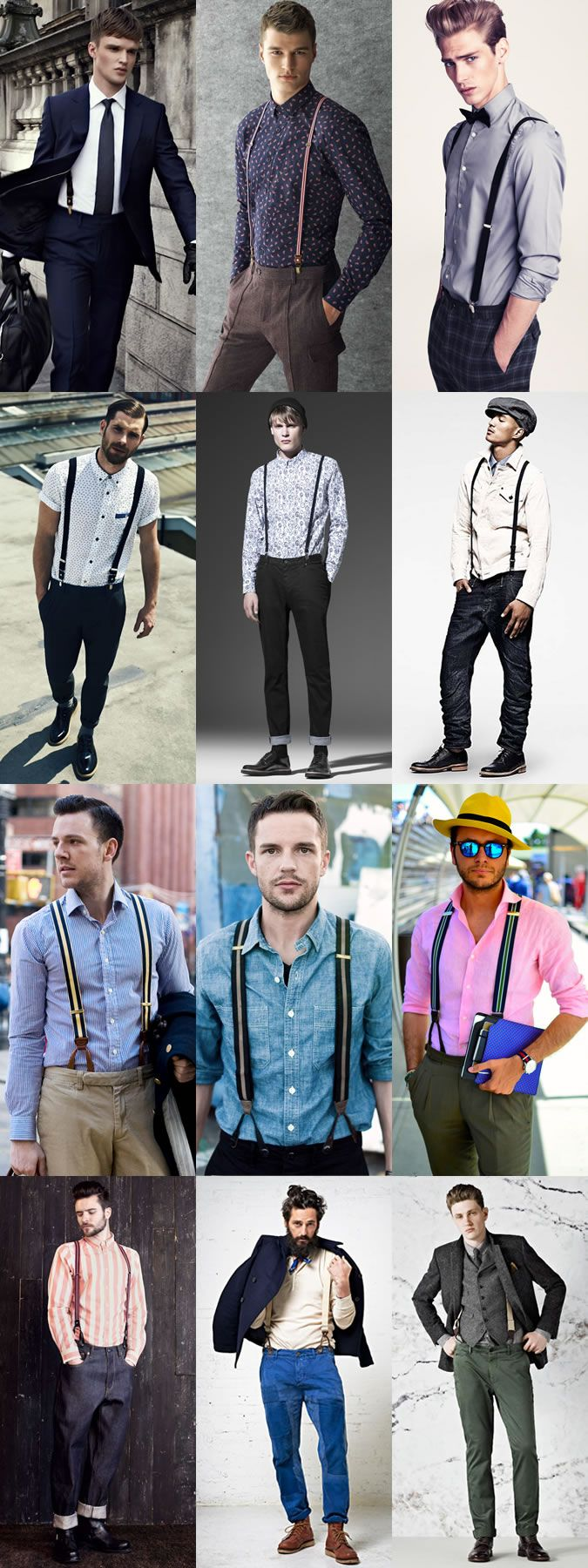 Men's Belts Guide: Braces Lookbook Inspiration