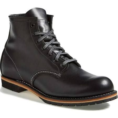 Red Wing Beckman 9014 Black Featherstone Round Toe Work Boots Men's Us