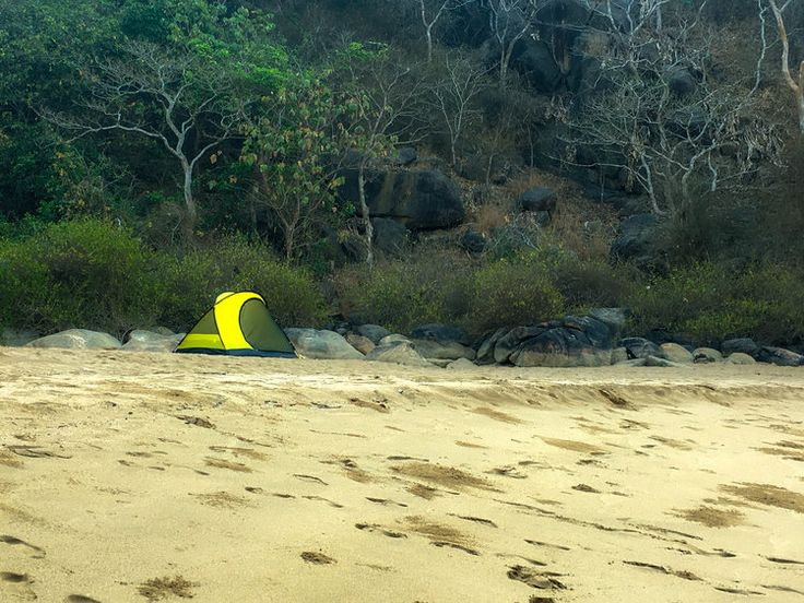 Camping at Butterfly Beach, Goa, India