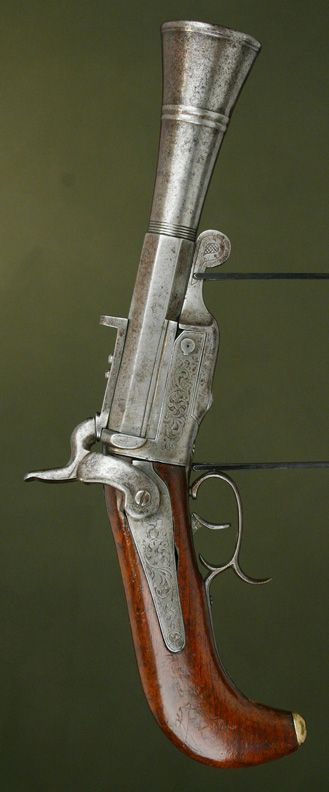 c. 1860-1870 Buenos Aires rare Pinfire Pistol Blunderbuss. Find our speedloader now!  http://www.amazon.com/shops/raeind