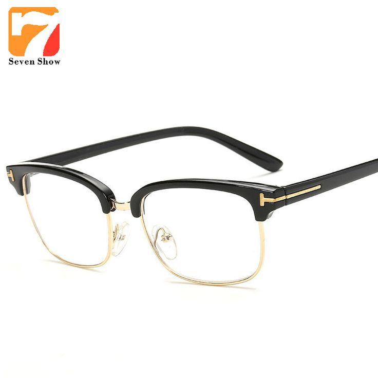 Glasses Retro TF Glasses Frames Men Computer Glasses Eyeglasses Vintage Women Half Optical Clear Lens Glasses Oculos lunettes