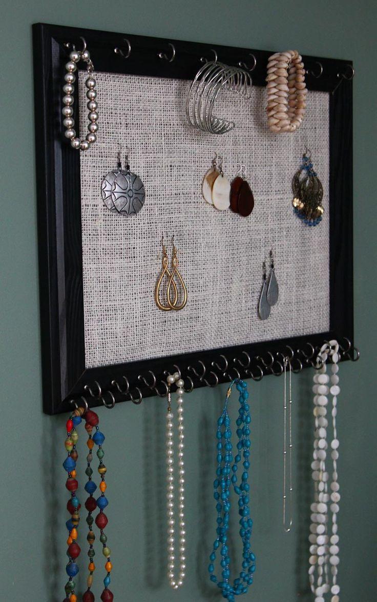 Jewelry Holder Wall Poet Npadov Na Tcmu Frame Jewelry Organizer Na Pintereste 17