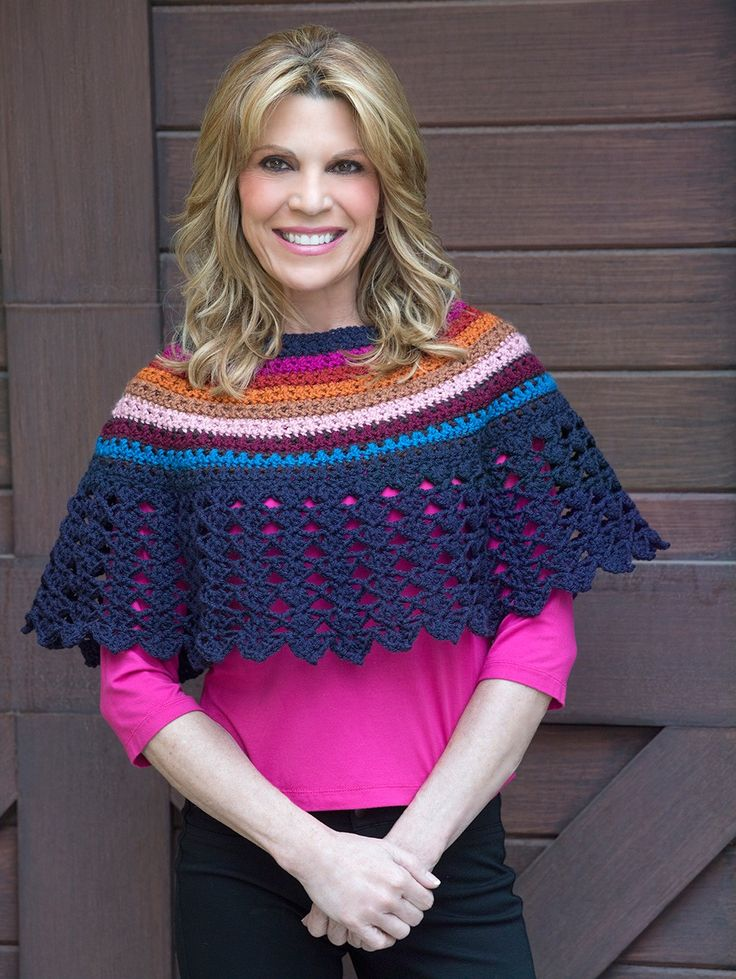 Lace Edged Poncho Pattern (Crochet)