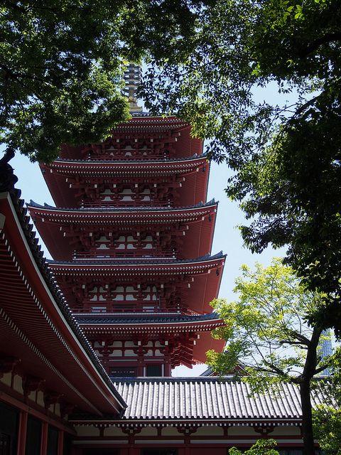 the garden of Denbouin, Senso temple, Asakusa 2 Chome, Tokyo, Tokyo Prefecture, JP