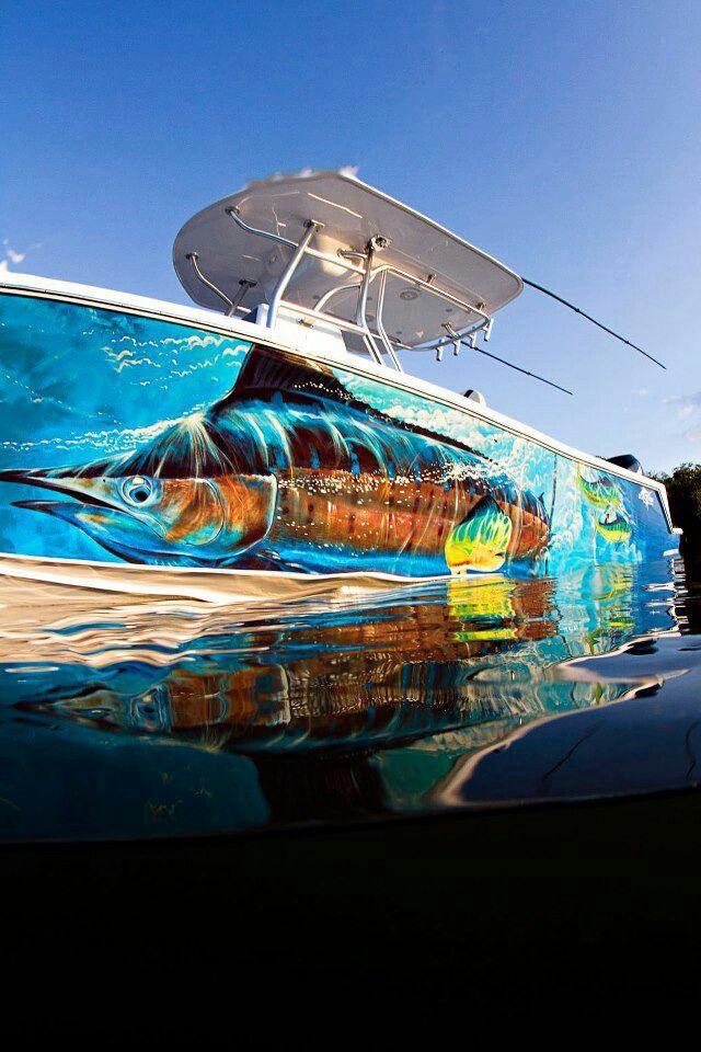 Guy Harvey art wrapped boat!