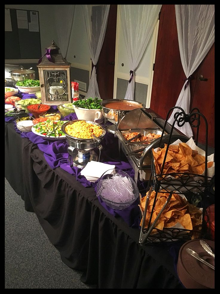 A taco bar buffet wedding