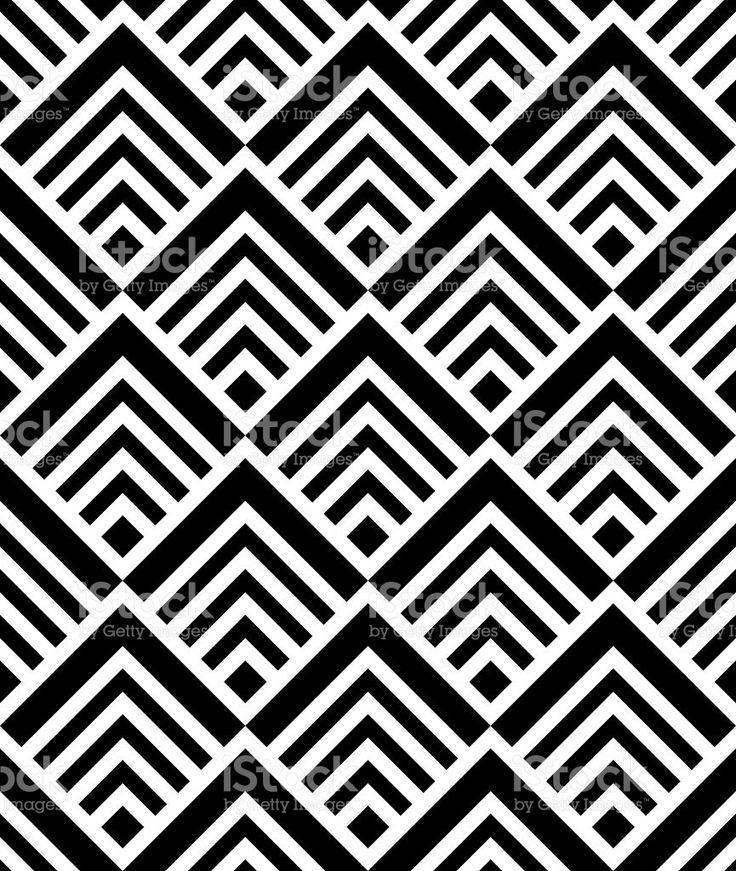 Бесшовные геометрический рисунок, вектор, черно-белый роялти-фри стоковый вектор искусства
