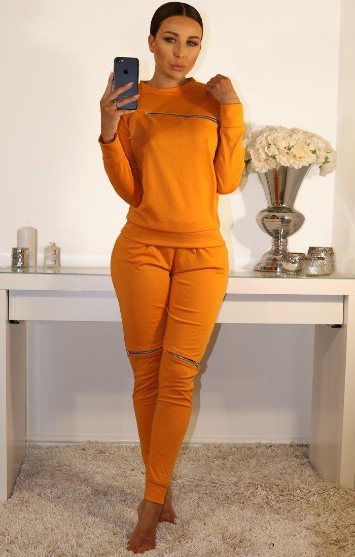 Best new loungewear this season      loungewear Khaki cropped Loungewear Set #Mustard #Side #Stripe #Loungewear #Set