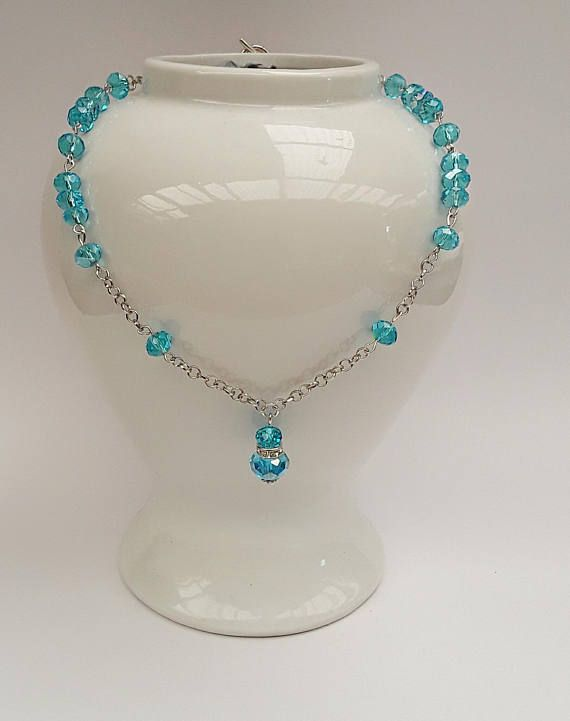 Hey, I found this really awesome Etsy listing at https://www.etsy.com/au/listing/588200543/beaded-blue-choker-necklace-blue-jewelry