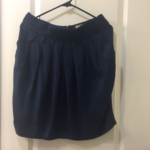 Anthropologie Dark navy blue skirt with pockets Dark navy blue skirt with pockets- Anthropologie Anthropologie Skirts Mini