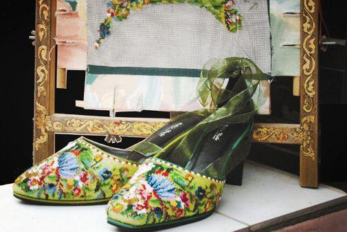 Peranakan (Baba Nyonya) bead slipper