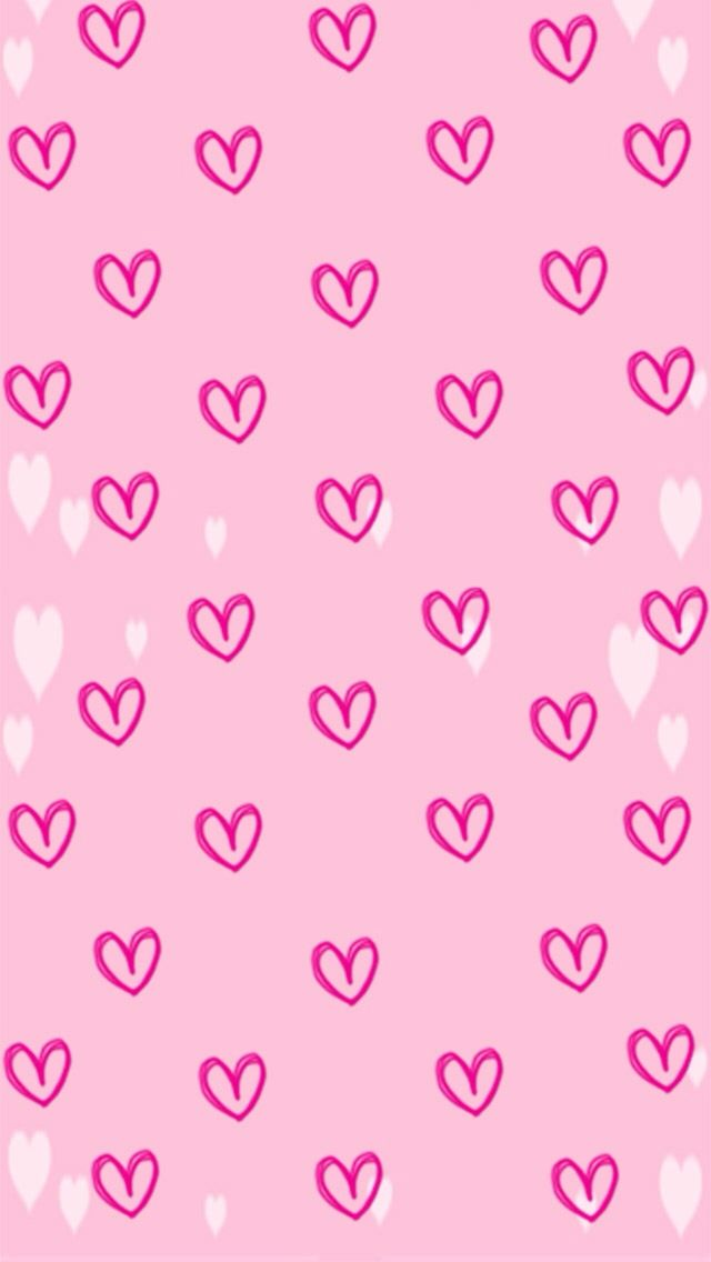 Pink heart background | Backgrounds | Pinterest