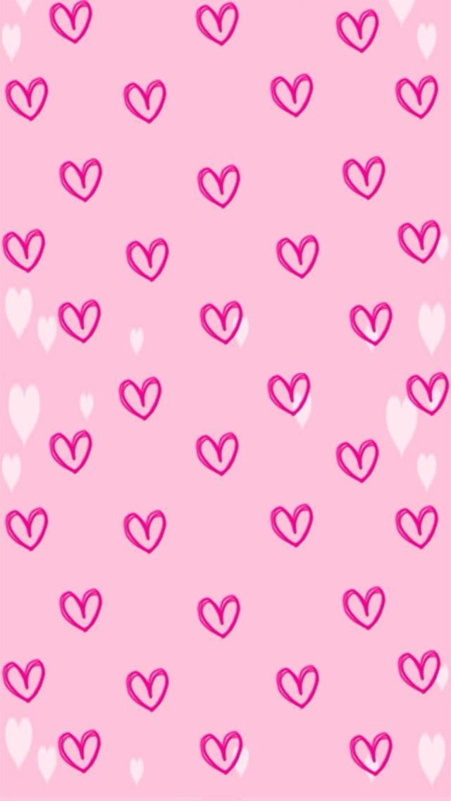 pink heart background backgrounds pinterest