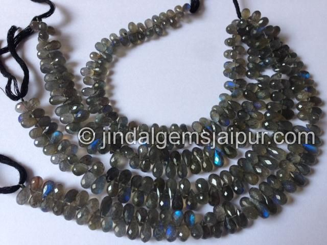 Labradorite Faceted Drops .