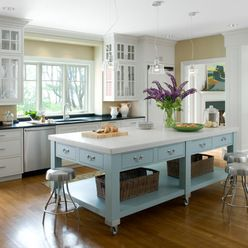 Moveable Kitchen Island Design Ideas, Pictures, Remodel, and Decor