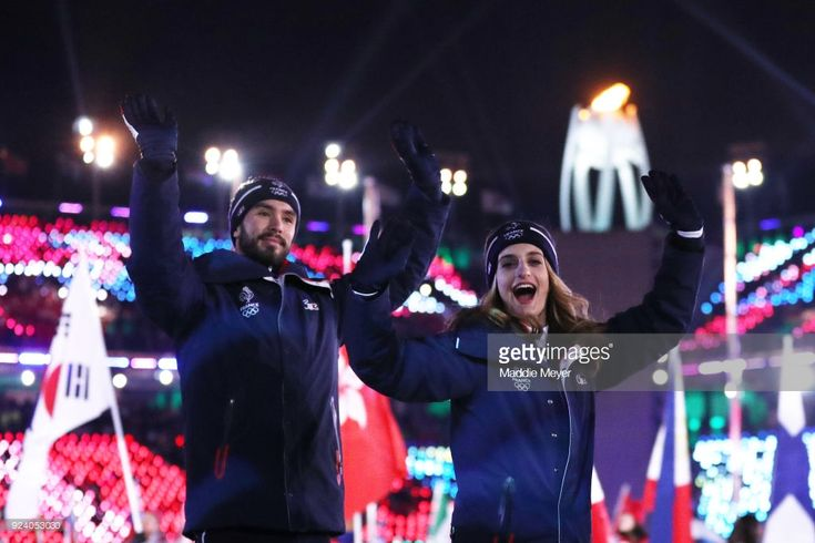 Members of team France walk in the Parade of Athletes during the Closing Ceremony of the PyeongChang 2018 Winter Olympic Games at PyeongChang Olympic Stadium on February 25, 2018 in Pyeongchang-gun, South Korea.