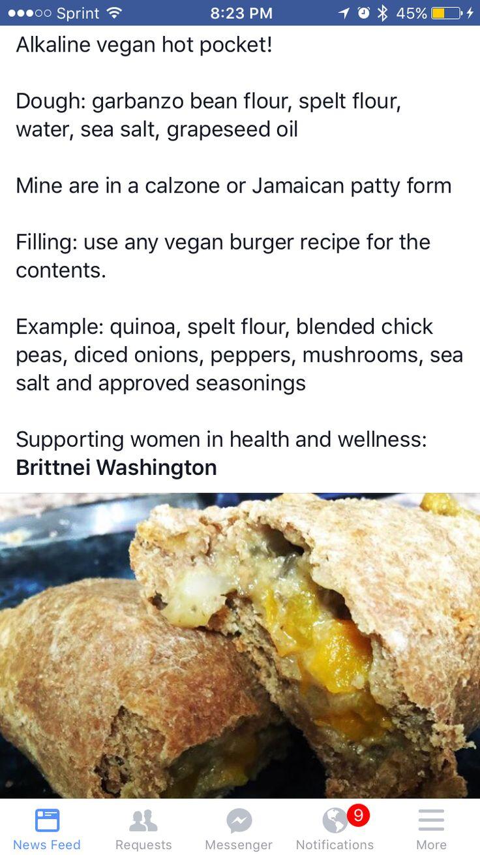 Alkaline Vegan Hot Pocket