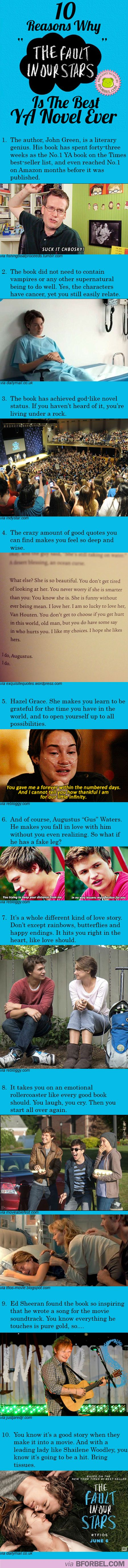 """10 Reasons Why """"The Fault In Our Stars"""" Is The Best Y.A. Novel Ever… AGREED"""